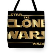 Star Wars The Clone Wars Typography Tote Bag