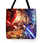 Star Wars The Force Awakens Artwork Tote Bag