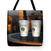 Starbucks At The Top Tote Bag