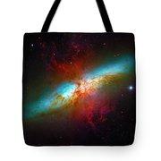 Starburst Galaxy M82 Tote Bag