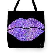 Stardust Kiss, Purple Hologram Lipstick On Pouty Lips, Fashion Art Tote Bag