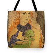 Starfire With Beast Boy In The Form Of A Ermine Tote Bag