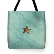 Starfish Aquamarine Tote Bag
