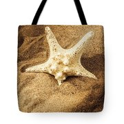 Starfish In Sand Tote Bag