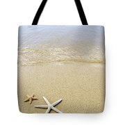 Starfish On Beach Tote Bag