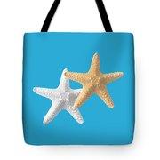Starfish On Turquoise Tote Bag
