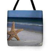 Starfish Standing On The Beach Tote Bag