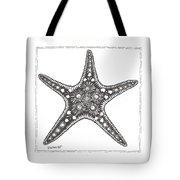 Starfish Tote Bag by Stephanie Troxell