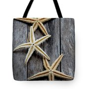 Starfishes In Wooden Tote Bag