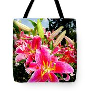 Stargazer Lilies #2 Tote Bag