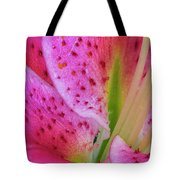 Stargazer Lily Close Up Tote Bag