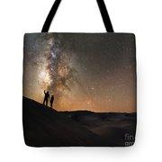 Stargazers Under The Night Sky Tote Bag