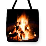 Staring Into The Fire Tote Bag