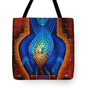 Starlight Temple Of The Dawn Tote Bag