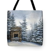 Starr King Stone Fireplace Tote Bag