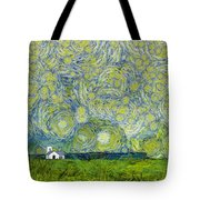 Starry Ballintoy Church Tote Bag