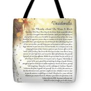Starry Guardian Angel Desiderata Tote Bag
