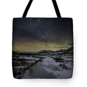 Starry Night In Iceland Tote Bag