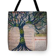 Starry Night-inspired Tree Tote Bag
