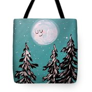Starry Night Moon  Tote Bag