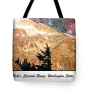 Starry Night Over Mount Baker Tote Bag