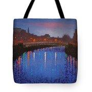 Starry Nights In Dublin Ha' Penny Bridge Tote Bag by John  Nolan