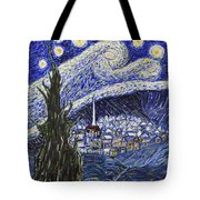 Starry Nights And Serenity  Tote Bag