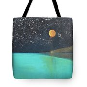 Starry Sky Above The Ocean Tote Bag