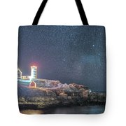 Starry Sky Of The Nubble Light In York Me Cape Neddick Tote Bag