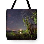 Starry Sky Over Lake Champlain New York Tote Bag