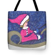 Starry Sleigh Ride Tote Bag