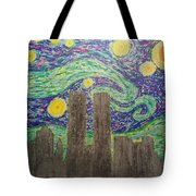 Starry Towers Tote Bag