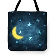 Stars And Moon Drawing With Chalk Tote Bag