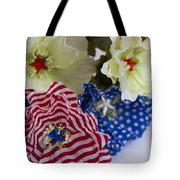 Stars And Stripes Bouquet Tote Bag