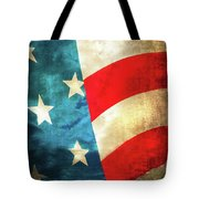 Stars And Stripes Curved Tote Bag