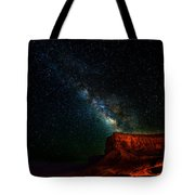 Stars And The Mountain Tote Bag