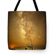 Stars Over Fishing Boat Tote Bag