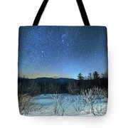 Stars Over The New Hampshire White Mountains Tote Bag