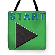 Start Button Tote Bag
