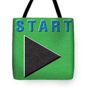 Start Button Tote Bag