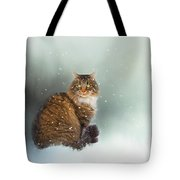 Starting To Snow Again Tote Bag
