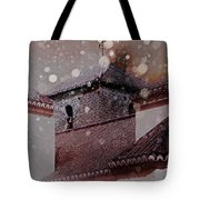 Starting To Snow Tote Bag