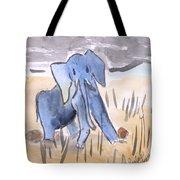 Startled Elephant Tote Bag