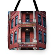 State Capital Entry  Tote Bag
