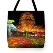 State Fair Rides At Night I Tote Bag by Clarence Holmes