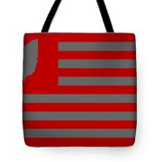 State Of Ohio - American Flag Tote Bag