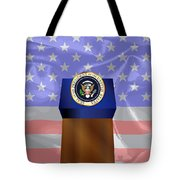State Of The Union Podium Tote Bag