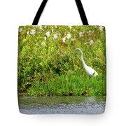 Stately Egret Tote Bag
