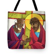 Stations Of The Cross - 05 Simon Helps Jesus Carry The Cross - Mmshj Tote Bag