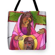Stations Of The Cross - 06 St. Veronica Wipes The Face Of Jesus - Mmvew Tote Bag